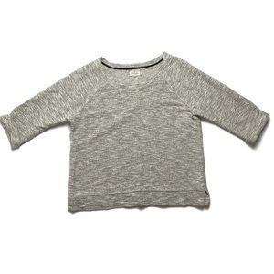 Lou & Grey 3/4 sleeve sweater w/ gold flecks